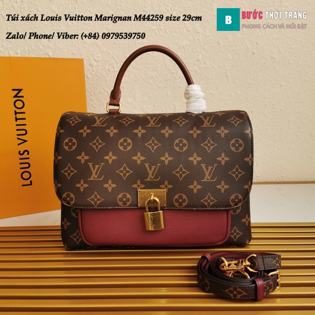 LV Louis Vuitton Marignan M44259 Đỏ Đô (1)