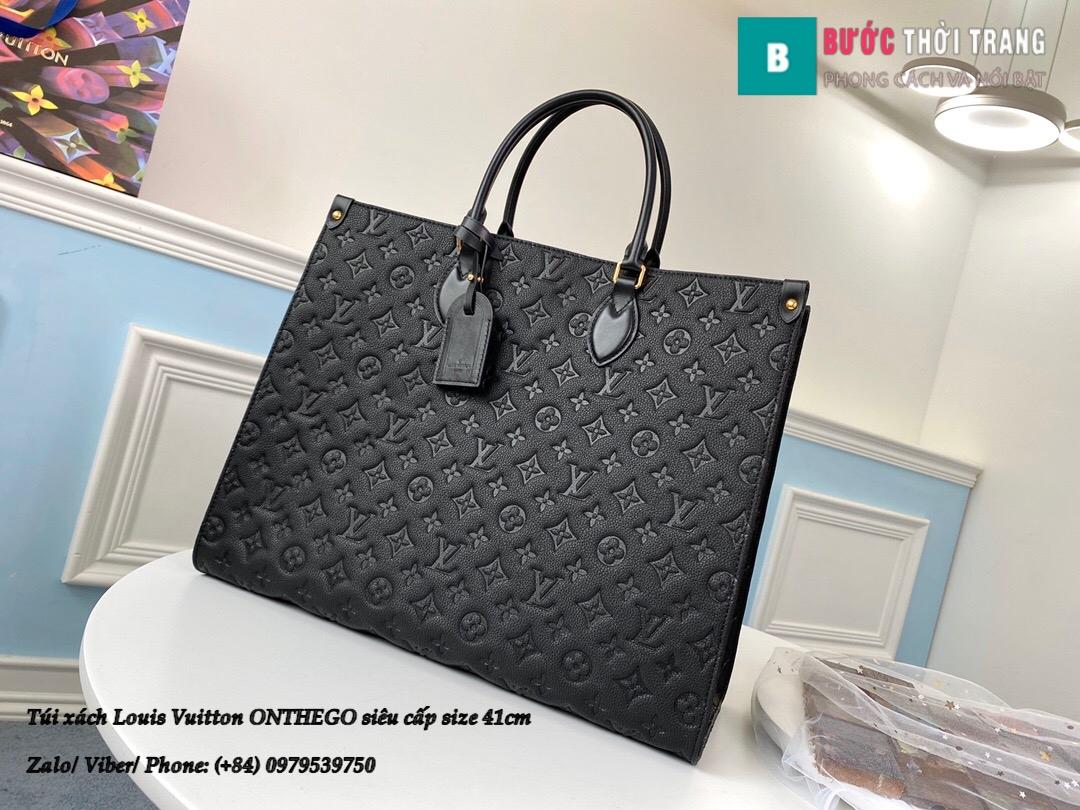 Túi xách Louis Vuitton ONTHEGO 2020 siêu cấp đe họa tiết nhỏ size 41cm – M44925 (1)
