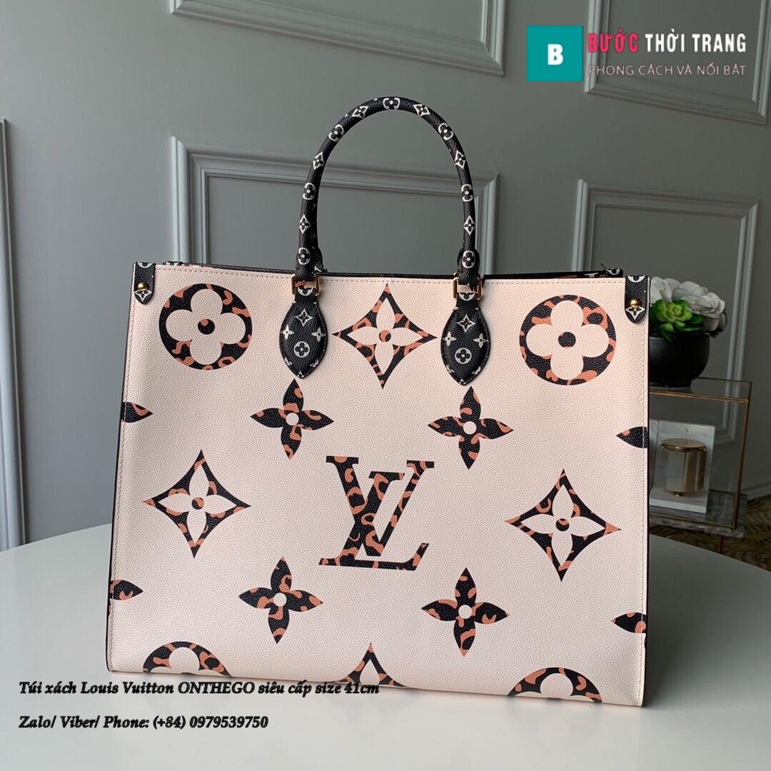 Túi xách Louis Vuitton ONTHEGO siêu cấp 2 mặt đen trắng size 41cm – M44576 (2)
