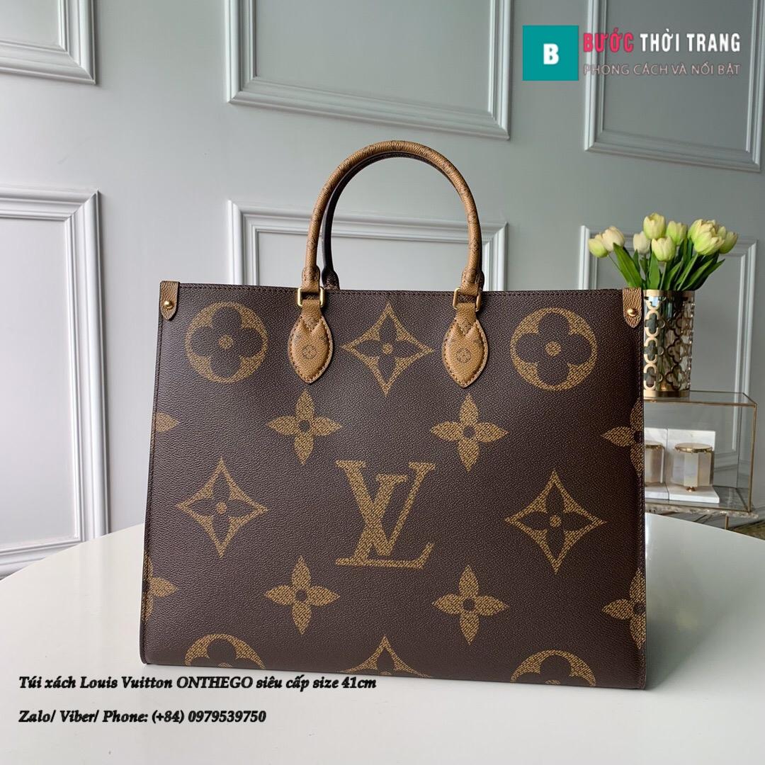 Túi xách Louis Vuitton ONTHEGO siêu cấp 2 mặt nâu đen size 41cm – M44576 (1)