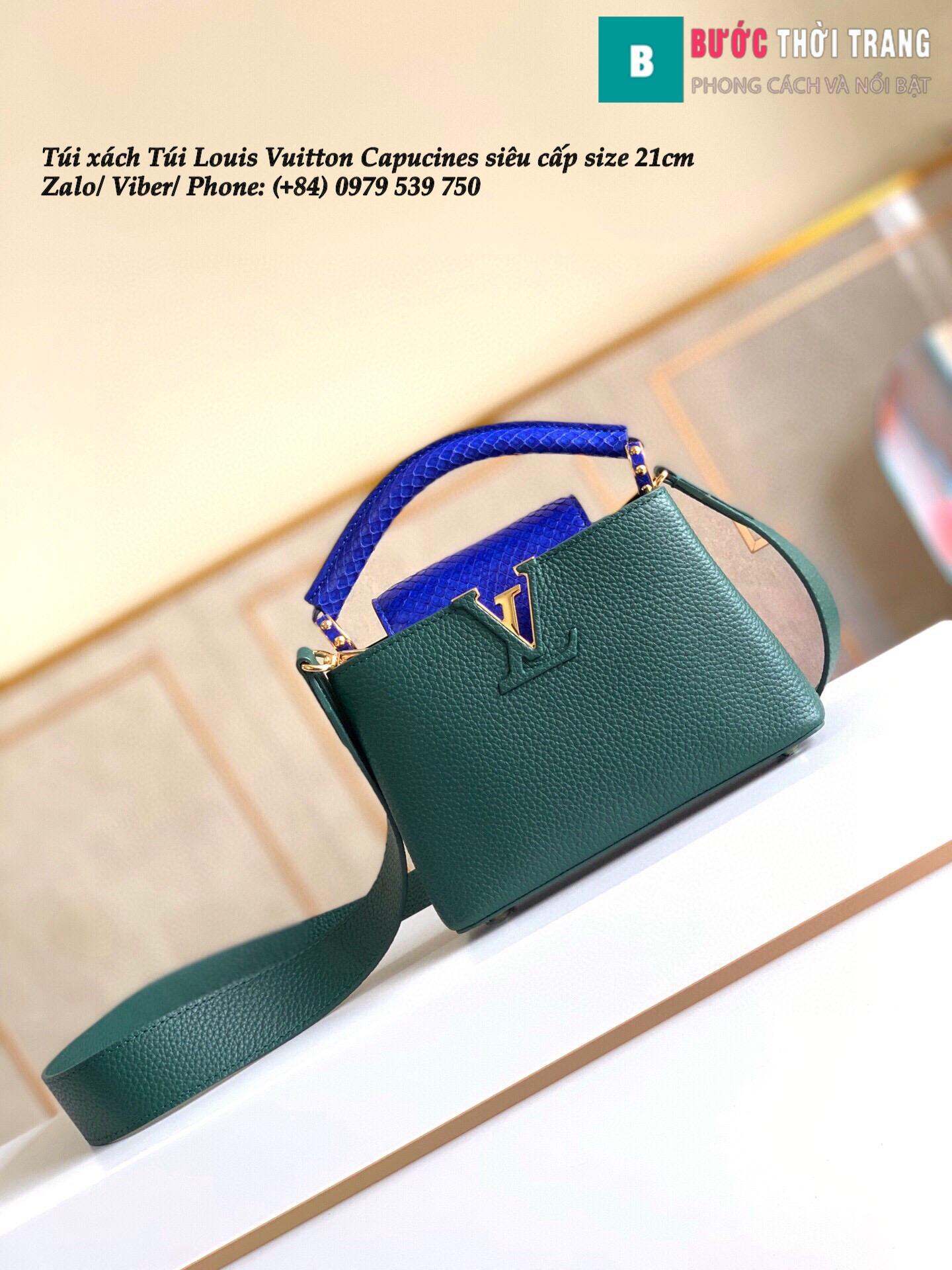 Túi Louis Vuitton Capucines siêu cấp quai da trăn size 21cm – M95509 (10)