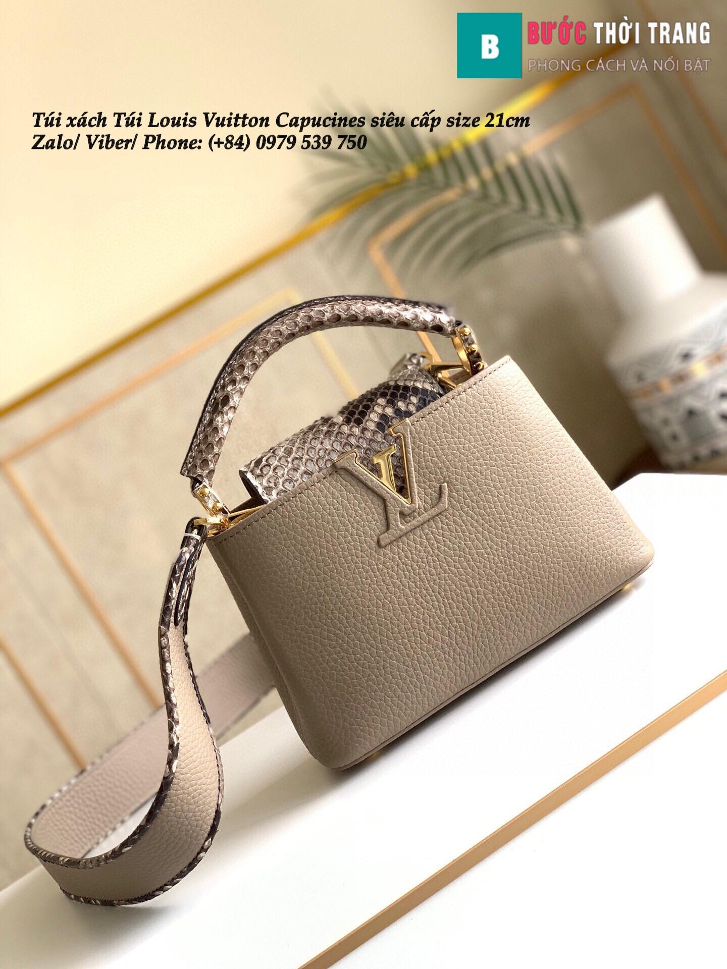 Túi Louis Vuitton Capucines siêu cấp quai da trăn size 21cm – M95509 (19)