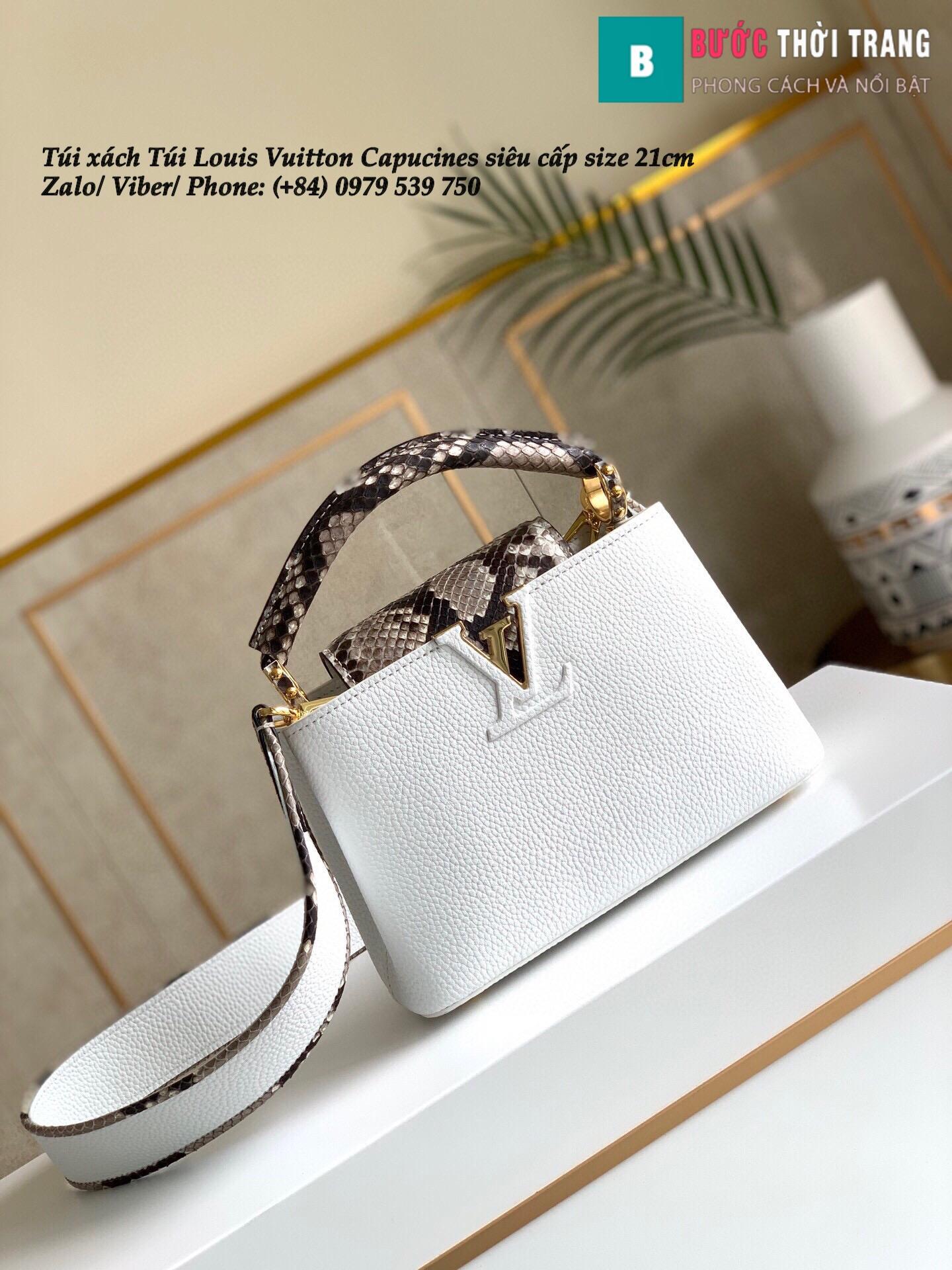 Túi Louis Vuitton Capucines siêu cấp quai da trăn size 21cm – M95509 (28)