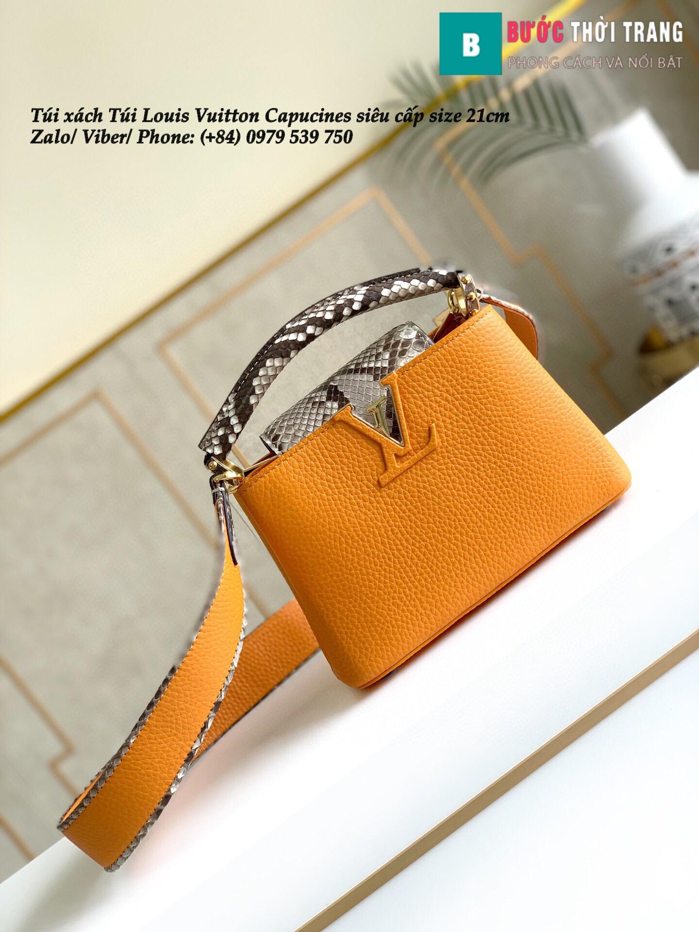 Túi Louis Vuitton Capucines siêu cấp quai da trăn size 21cm – M95509 (46)